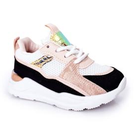 Dziecięce Sportowe Buty Sneakersy Czarno-Różowe Game Time białe czarne