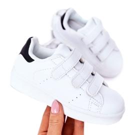FR1 Dziecięce Sportowe Buty Na Rzepy Biało-Czarne Fifi białe