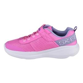 Buty Skechers Go Run Fast-Viva Valor Jr 85401L-PKLV niebieskie różowe