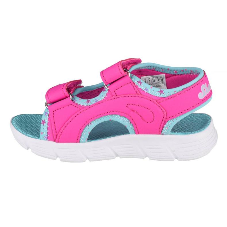 Sandały Skechers C-Flex Sandal-Star Zoom Jr 86980N-HPMT niebieskie różowe