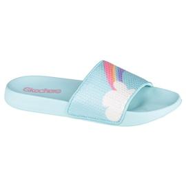 Klapki Skechers Sunny Slides-Dreamy Steps Jr 86994L-LBMT niebieskie