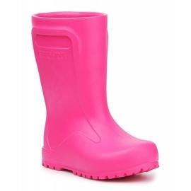 Kalosze Birkenstock Derry Neon Pink Jr 1006288 czarne różowe