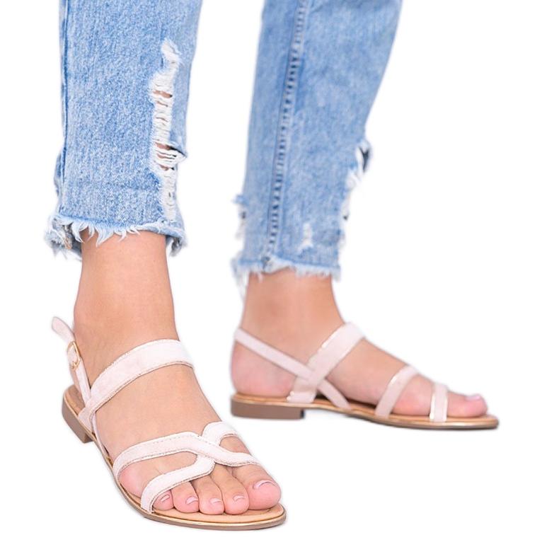 Beżowe sandały damskie Rosina beżowy
