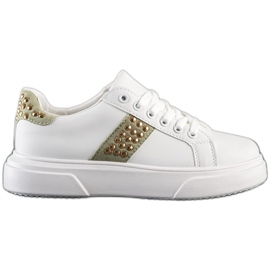 SHELOVET Sneakersy Z Ozdobami białe