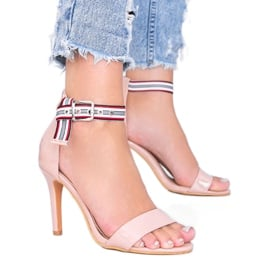 Beżowe sandały na szpilce Michela beżowy