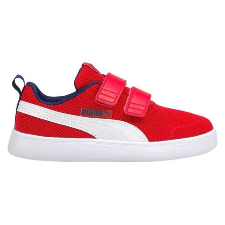 Buty Puma Courtflex v2 Mesh V Jr 371758 06 czerwone