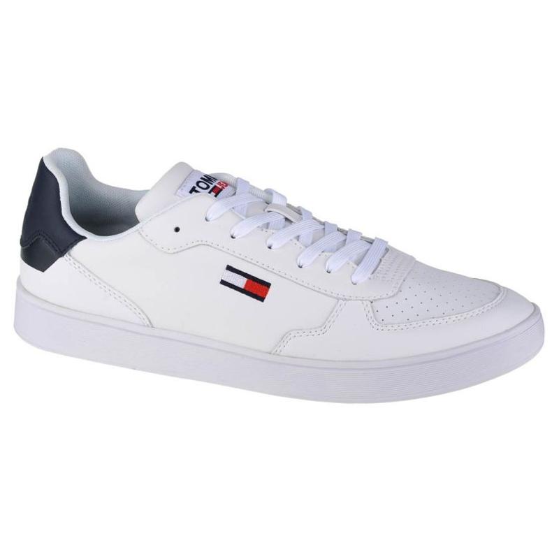 Buty Tommy Hilfiger Jeans Reflective Basket W EN0EN01348-OGY białe granatowe