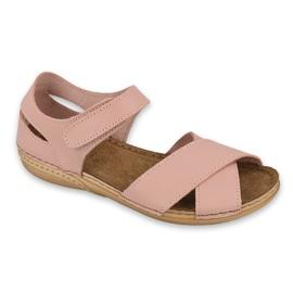 Inblu sandały obuwie damskie  158D181 różowe