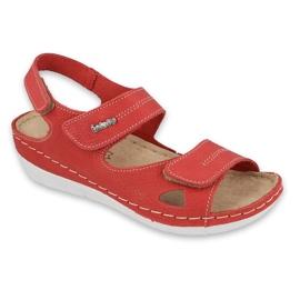 Inblu sandały obuwie damskie  158D157 czerwone