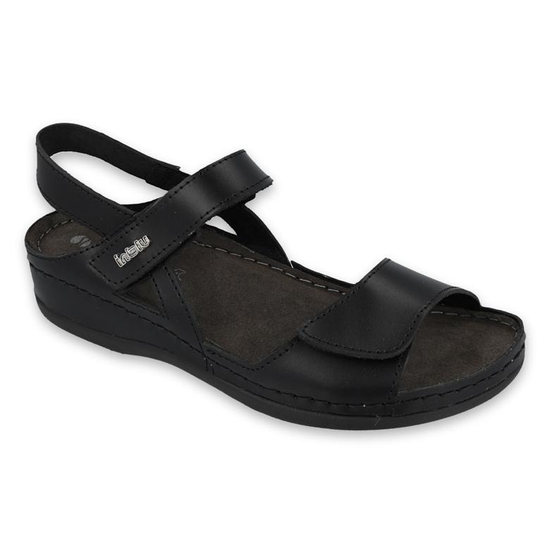 Inblu sandały obuwie damskie  158D164 czarne