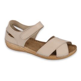 Inblu sandały obuwie damskie  158D179 beżowy
