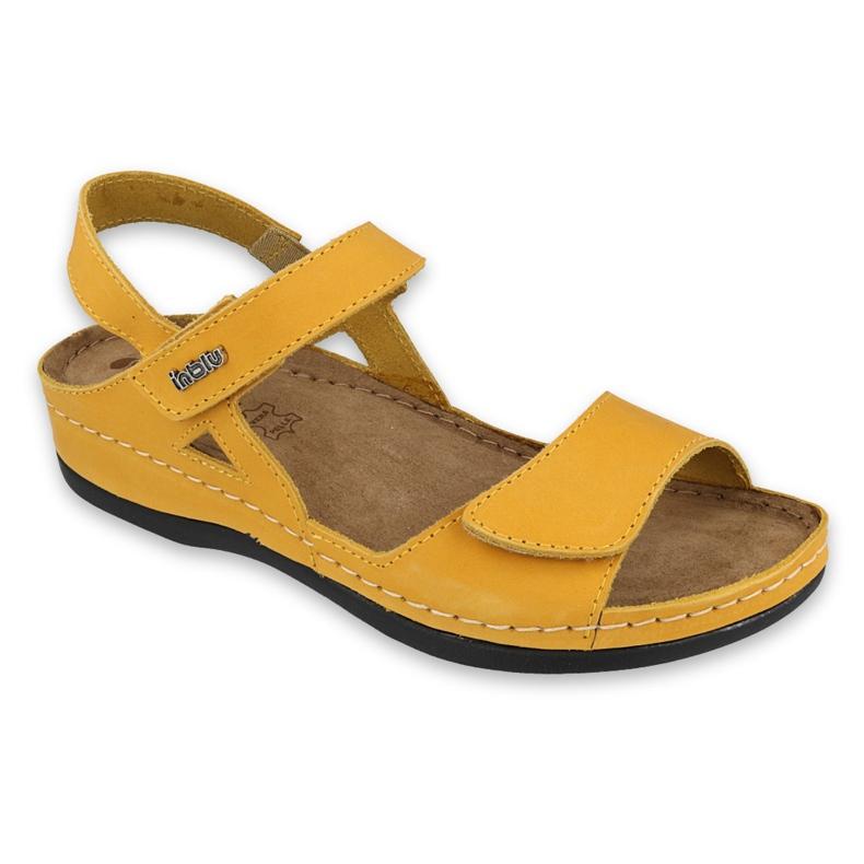 Inblu sandały obuwie damskie  158D161 żółte