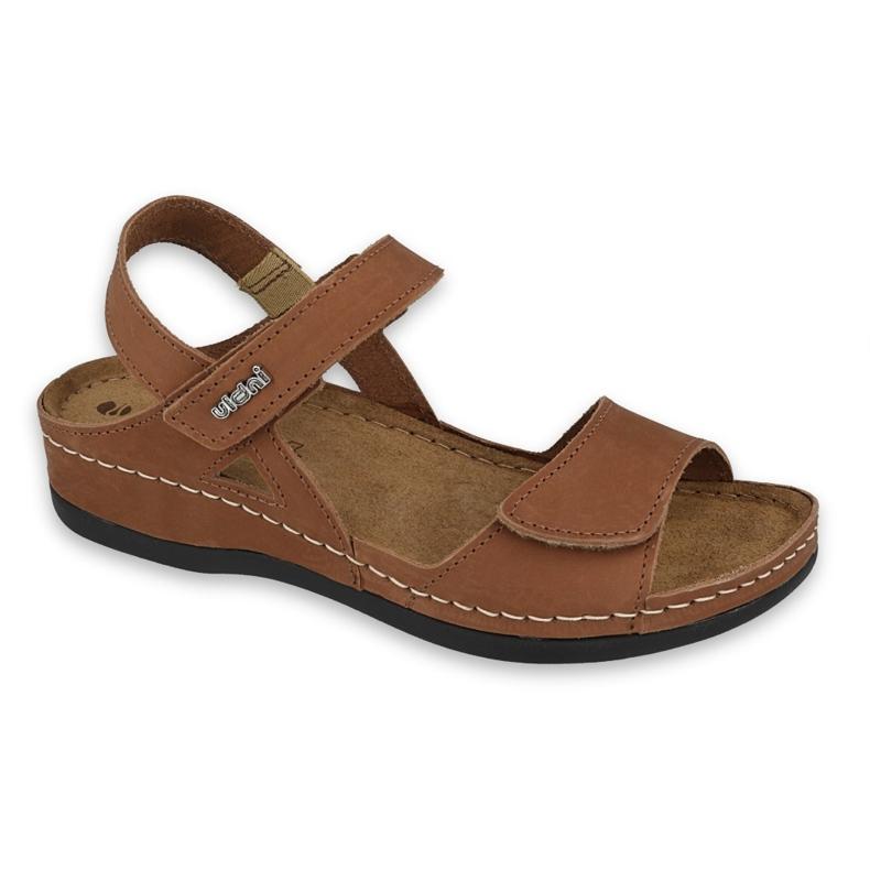 Inblu sandały obuwie damskie  158D162 brązowe