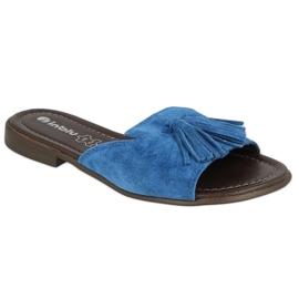 Inblu klapki obuwie damskie  158D150 niebieskie