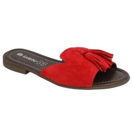 Inblu klapki obuwie damskie  158D148 czerwone