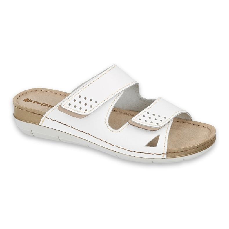 Inblu klapki obuwie damskie  158D169 białe
