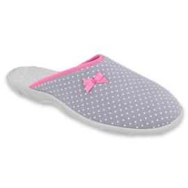 Befado obuwie damskie pu 235D175 białe różowe szare