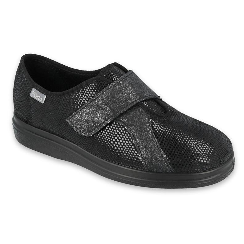 Befado obuwie damskie pu 039D002 czarne