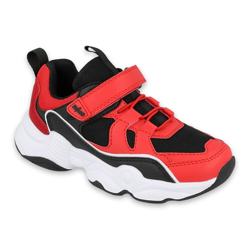 Befado obuwie dziecięce  516X068 czarne czerwone