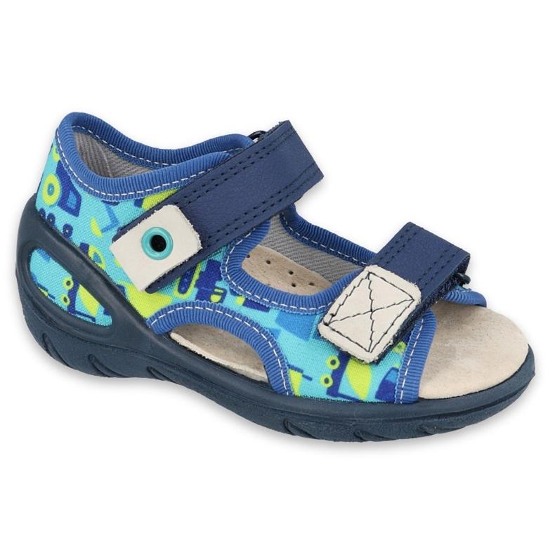 Befado obuwie dziecięce pu 065P156 granatowe niebieskie