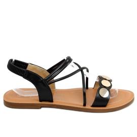 Sandałki damskie czarne 4900 Black