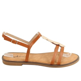 Sandałki damskie camel N-101 Camel brązowe