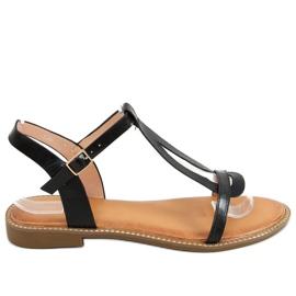 Sandałki damskie czarne C35-CH Black