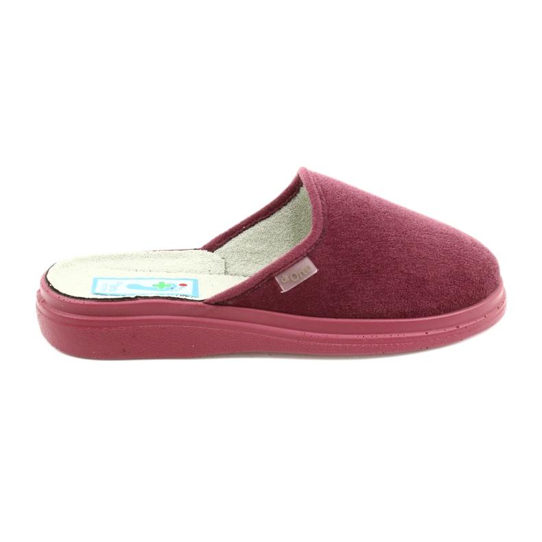 Befado obuwie damskie  pu 132D011 czerwone