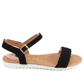 Sandałki damskie czarne X572 Black