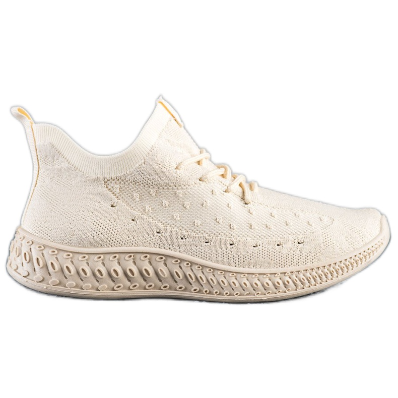 SHELOVET Beżowe Tekstylne Sneakersy beżowy