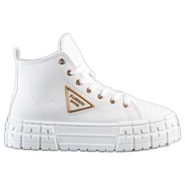 Goodin Wysokie Trampki Fashion białe