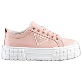 Goodin Różowe Trampki Fashion Shoes
