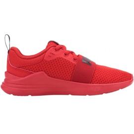 Buty Puma Wired Run Jr 374216 05 czerwone