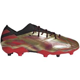 Buty piłkarskie adidas Nemeziz Messi.1 Fg Jr FY0806 pomarańczowy, złoty złoty