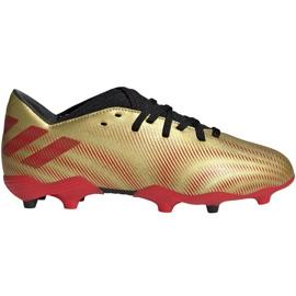 Buty piłkarskie adidas Nemeziz Messi.3 Fg Jr FY0807 pomarańczowy, złoty złoty
