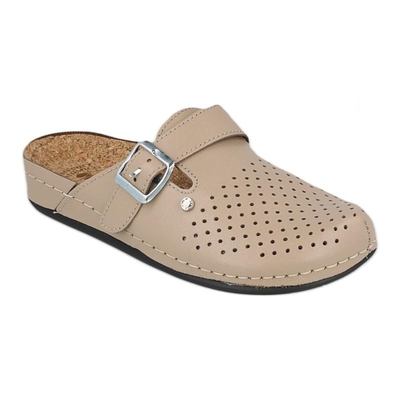 Inblu klapki obuwie damskie  158D176 beżowy