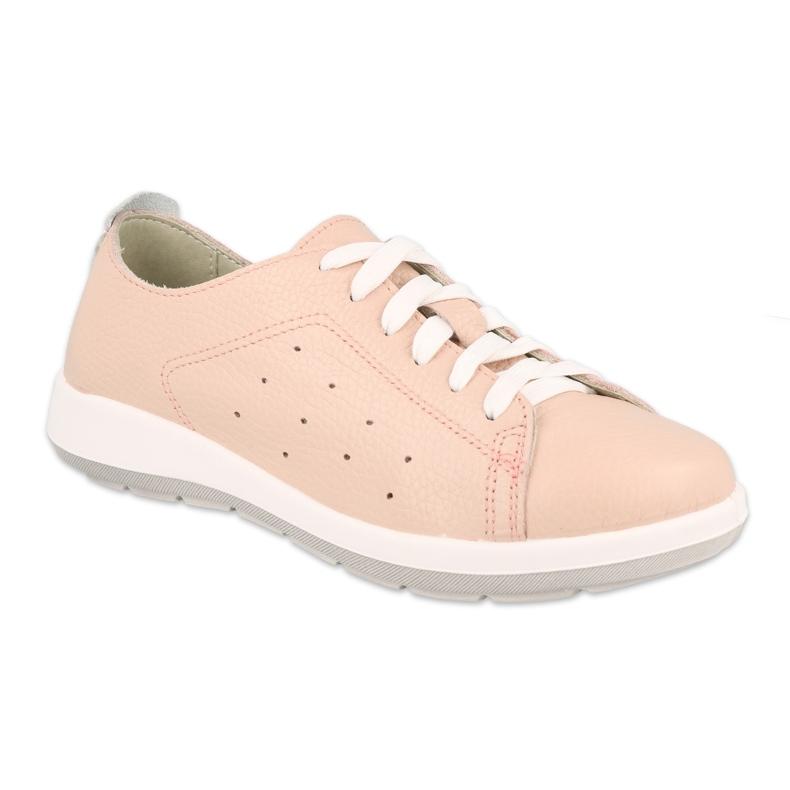 Befado półbuty obuwie damskie  156D012 różowe