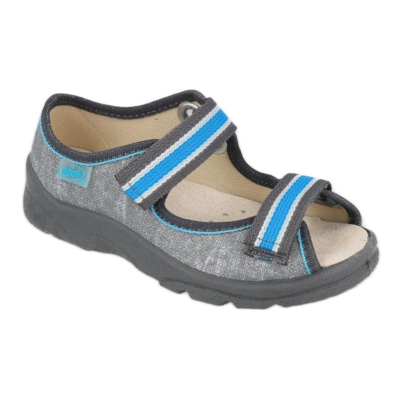 Befado obuwie dziecięce  869X157 niebieskie szare