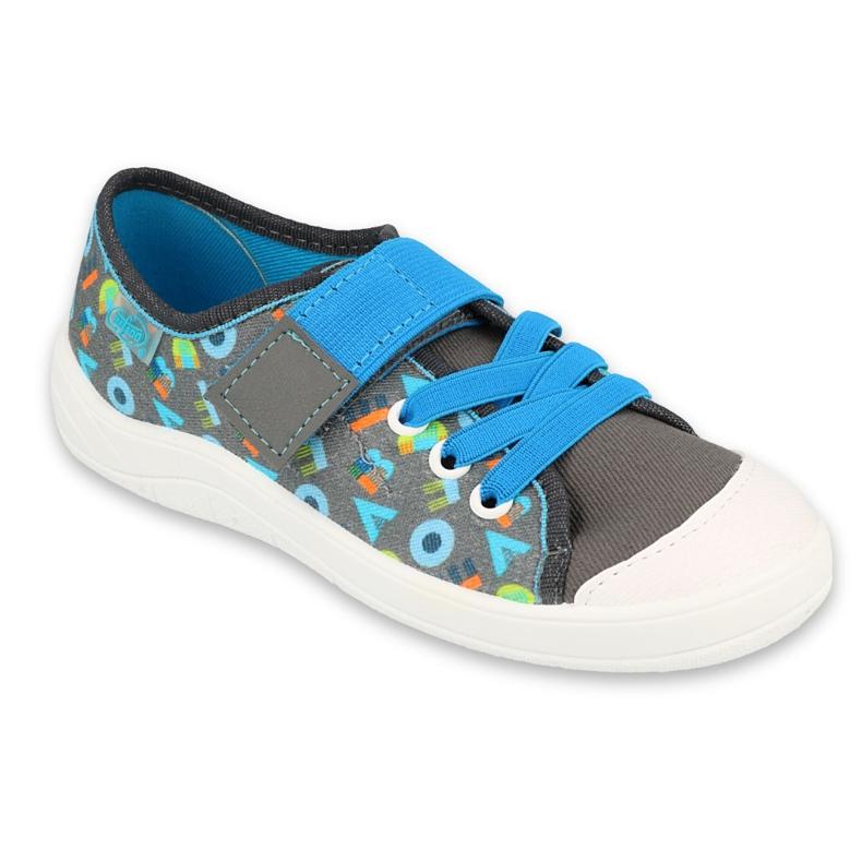 Befado obuwie dziecięce  251Y175 niebieskie szare