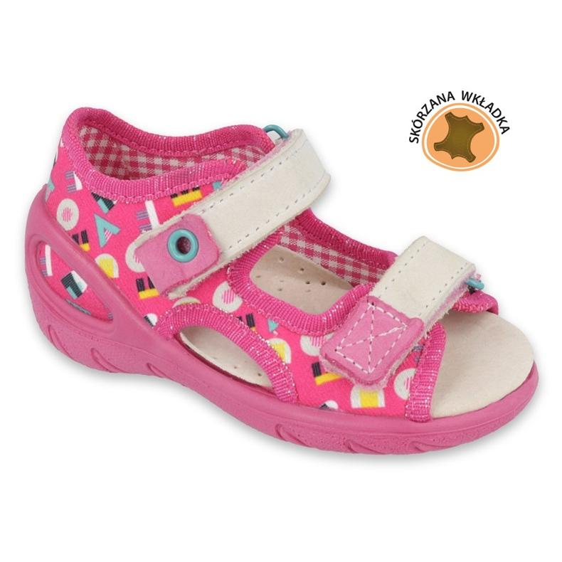 Befado obuwie dziecięce pu 065X153 różowe