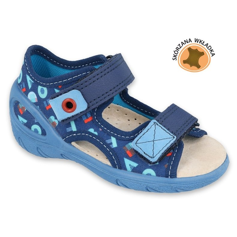 Befado obuwie dziecięce pu 065P161 granatowe niebieskie