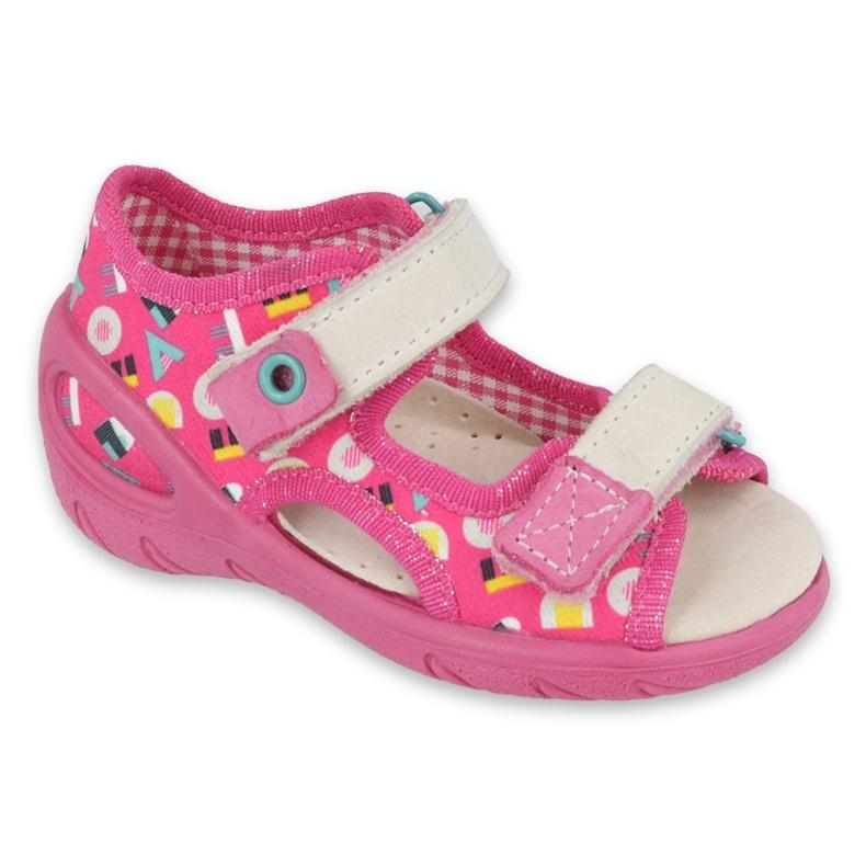 Befado obuwie dziecięce pu 065P153 różowe