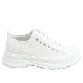 Trampki damskie białe LA122 White