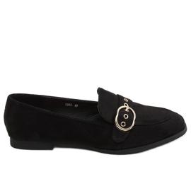 Mokasyny damskie czarne GQ05 Black
