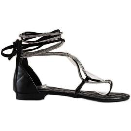 Seastar Wiązane Sandały Z Cyrkoniami czarne