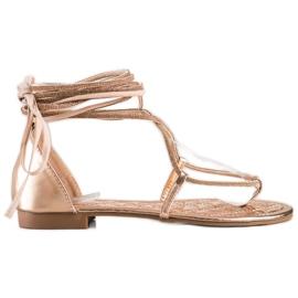 Seastar Wiązane Sandały Z Cyrkoniami złoty