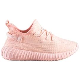 Marquiz Tekstylne Sneakersy różowe