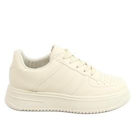 Buty sportowe damskie beżowe G191 Beige beżowy