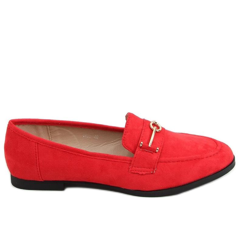 Mokasyny damskie czerwone GQ01 Red