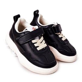 Apawwa Dziecięce Sportowe Buty Sneakersy Czarne Runner
